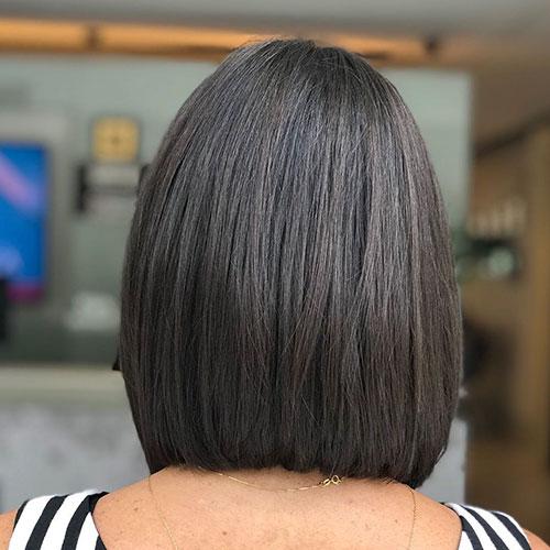 Short Blunt Cut Bob Hairstyle