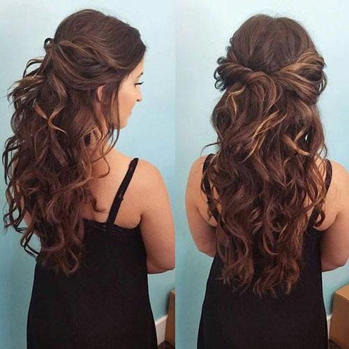 Half Long Curly Hair