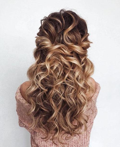 Half Curly Hair