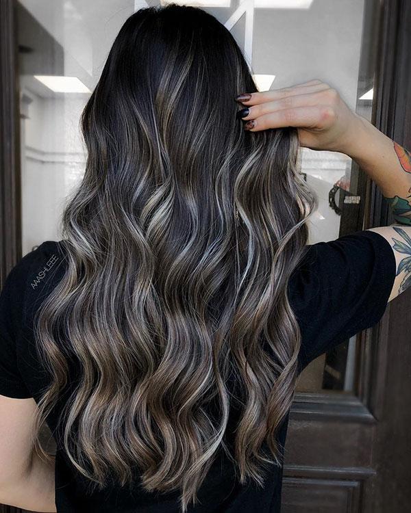 Balayage Long Haircut Images