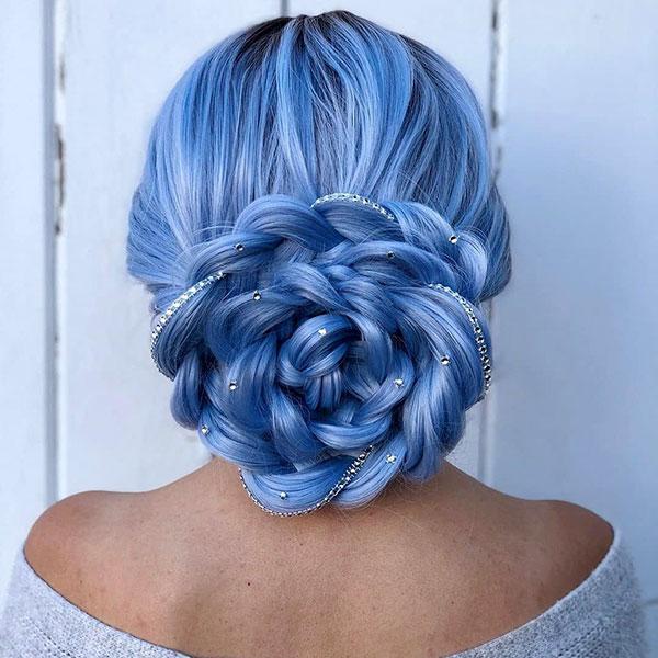 Blue Hair Color Ideas For Long Hair