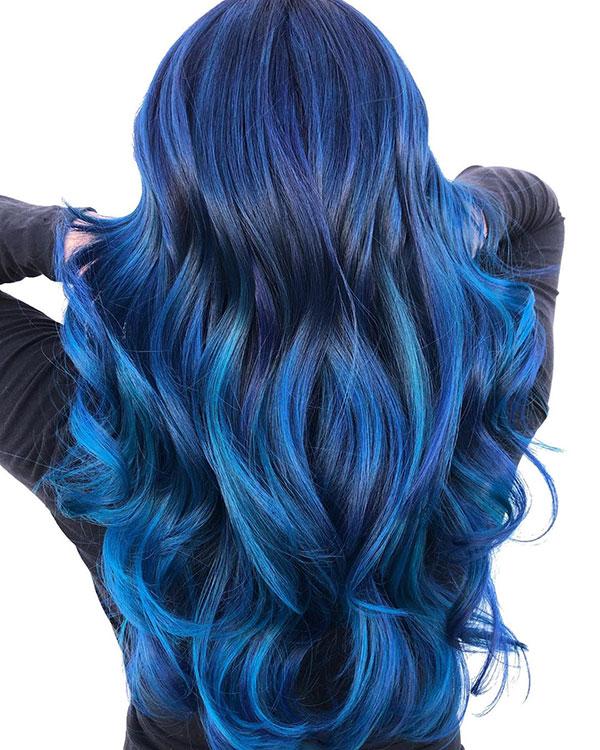 Long Blue Hair Images