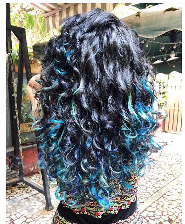 Long Blue Hair Color Ideas