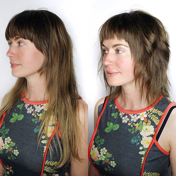 Medium Layered Hair Cut