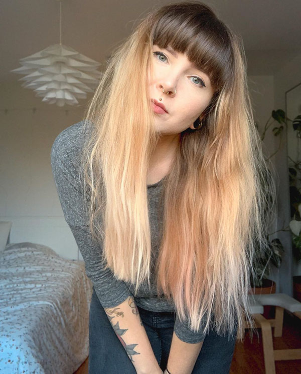 Pictures Of Long Hair With Bangs