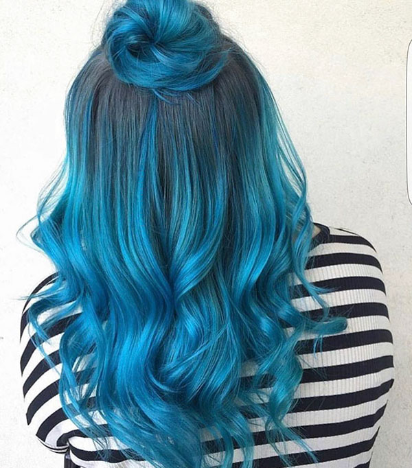 Long Blue Hair Pictures