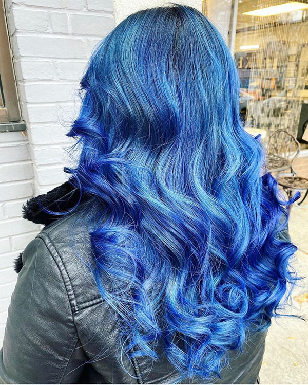 Images Of Blue Long Hair