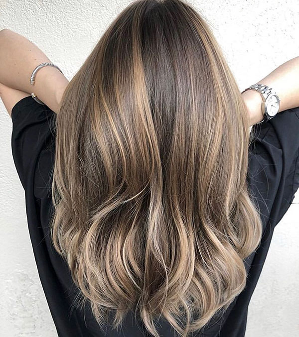 Long Brown Hair Color Ideas