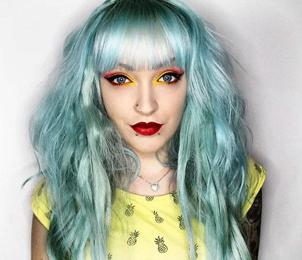 Blue Hair Hairstyles